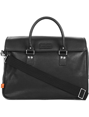 SIMON CARTER Lewes leather laptop bag