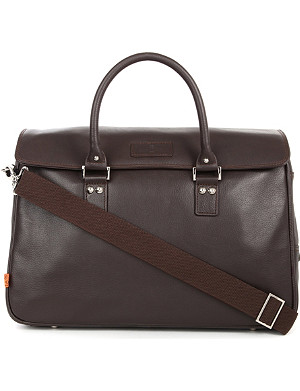 SIMON CARTER Lewes leather laptop bag