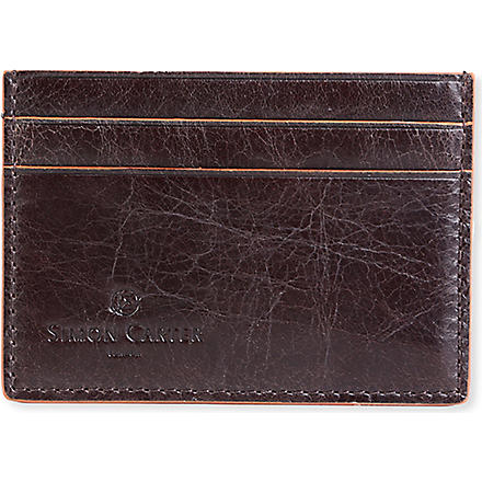 SIMON CARTER Credit card holder (Brown