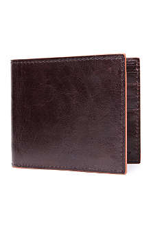 SIMON CARTER Cinnamon-edge leather wallet
