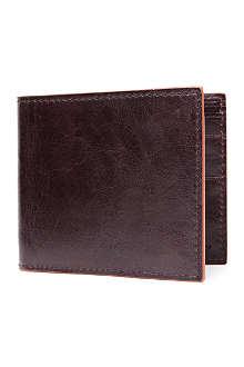 SIMON CARTER Cinnamon-edge leather wallet