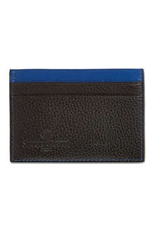 SIMON CARTER Colour-top leather card holder