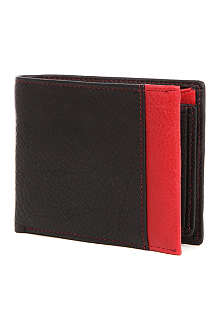 SIMON CARTER Two-tone leather wallet
