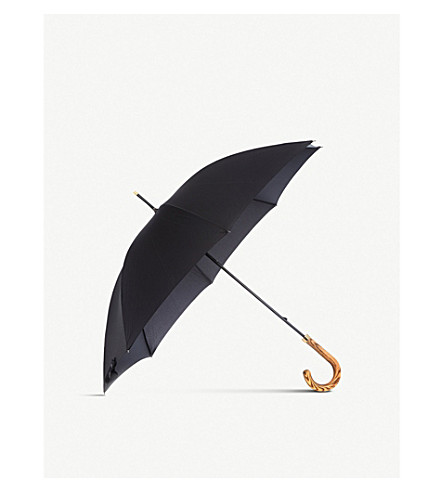 FULTON Commissioner wooden crook umbrella (Black