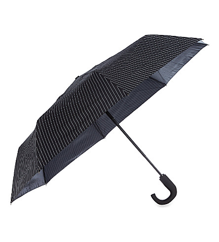 FULTON City stripe small umbrella (Black/steel