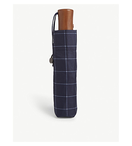 FULTON Window pane check umbrella (Navy