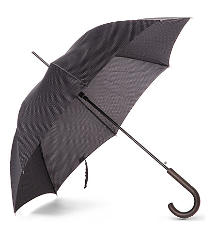 FULTON Patterned walking umbrella (Black