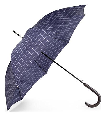 FULTON Shoreditch window pane check umbrella (Navy