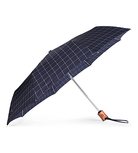 FULTON Cross printed umbrella (Black