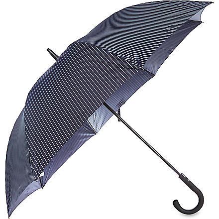 FULTON Pinstriped blue umbrella (Blue