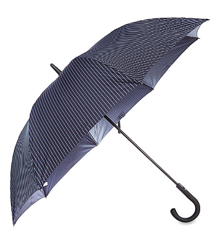 FULTON Pinstriped blue umbrella (Blue