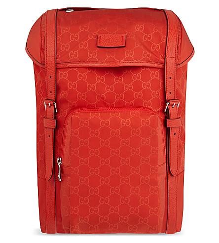 GUCCI Rainy nylon logo backpack (Orange