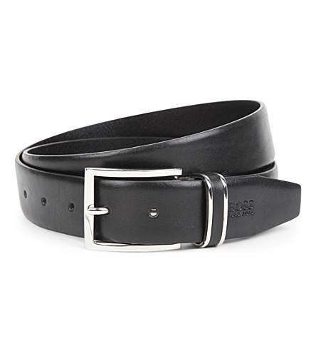 HUGO BOSS Froppin leather belt (Black