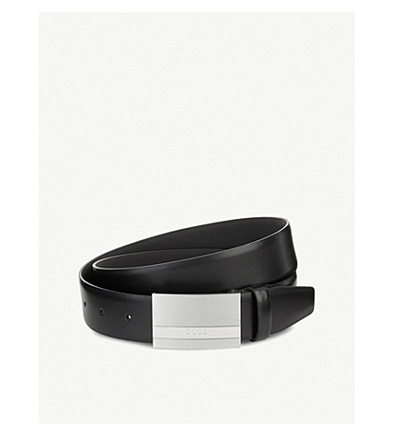 BOSS Baxton leather belt (Black