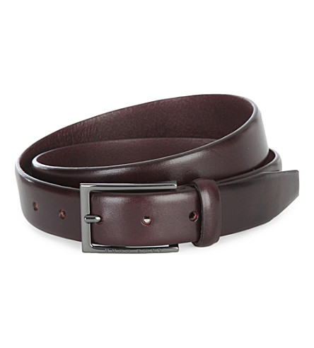 HUGO BOSS Ceddy narrow smart belt (Dark+brown