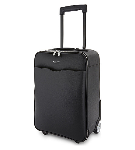 BOSS Signature two-wheel leather trolley 46cm (Black