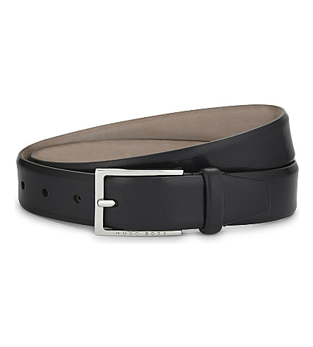 BOSS Ceddys leather belt (Black