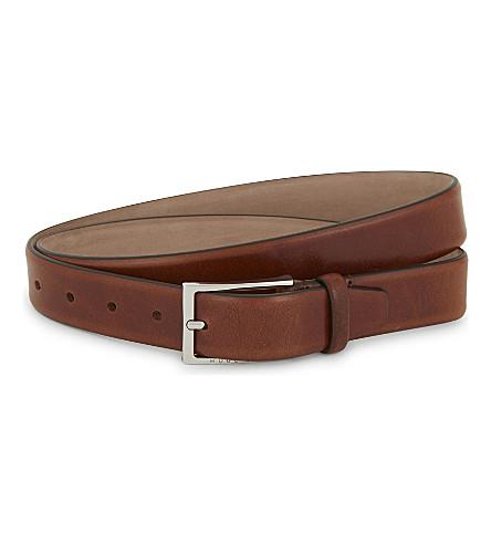 BOSS Ceddys leather belt (Light+brown
