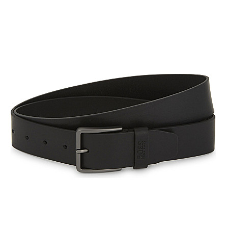 BOSS Serenus leather belt (Black