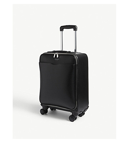 BOSS Signature Trolley leather suitcase 52cm (Black