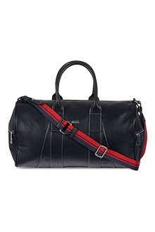 HUGO BOSS Plain leather weekender