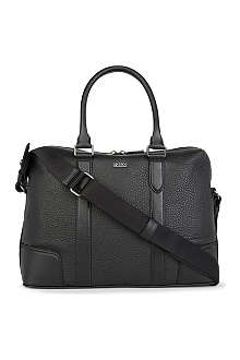 HUGO BOSS Bario leather laptop bag