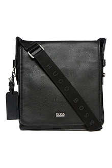 HUGO BOSS Leather reporter bag