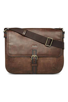 HUGO BOSS Large vintage messenger bag