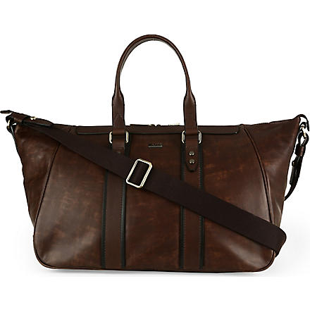 HUGO BOSS Bontio leather holdall (Brown