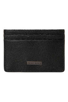 HUGO BOSS Bosleny textured-leather card case