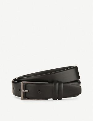 HUGO BOSS Brushed leather belt