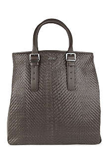 HUGO BOSS Corling woven-leather tote bag