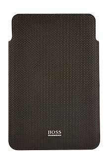 HUGO BOSS Woven leather iPad mini case