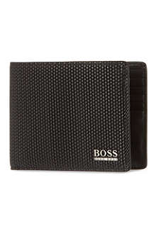 HUGO BOSS Print leather billfold