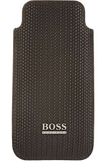 HUGO BOSS Woven leather iPhone case