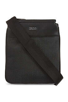 HUGO BOSS Print leather pouch bag