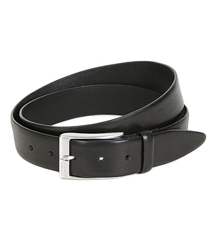 HUGO BOSS Eberio smooth-leather belt (Black