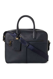 HUGO BOSS Eloit grained-leather bag