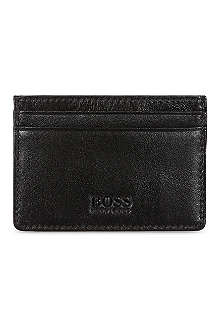 HUGO BOSS Soft calf leather card holder