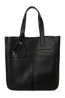 HUGO BOSS Epice grained-leather tote