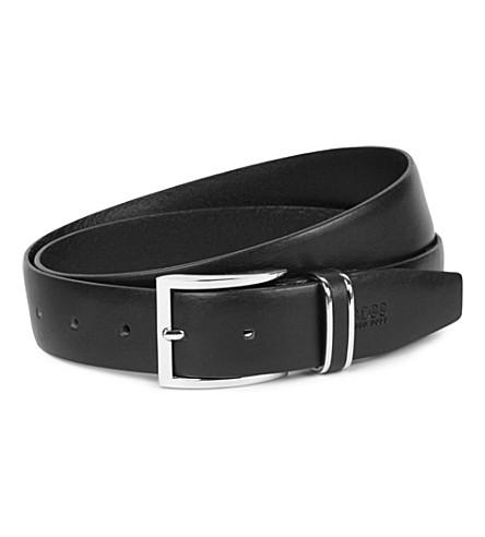HUGO BOSS Froppin leather belt (Black