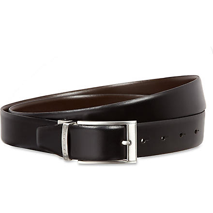 HUGO BOSS Reversible leather belt set (Black+brown