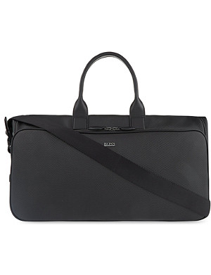 HUGO BOSS Herko leather weekend bag