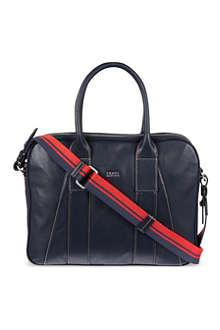 HUGO BOSS Plain leather work bag