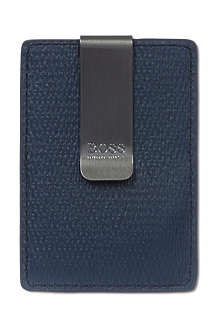 HUGO BOSS Spiga leather money clip