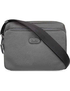 HUGO BOSS Pebbled leather cross-body bag