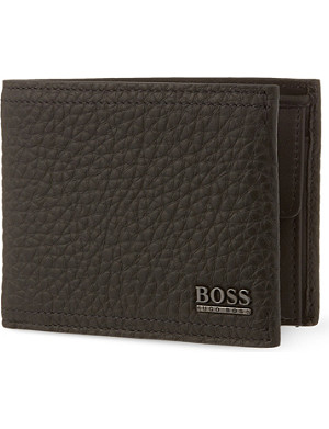 HUGO BOSS Grained leather billfold wallet