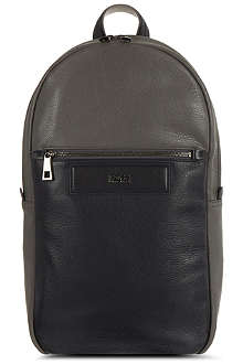 HUGO BOSS Bi-colour leather backpack