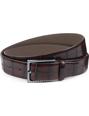 HUGO BOSS Printed crocodile belt