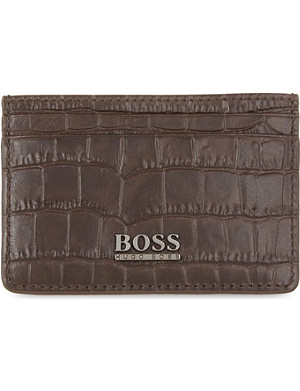 HUGO BOSS Saintpete croc-embossed card holder